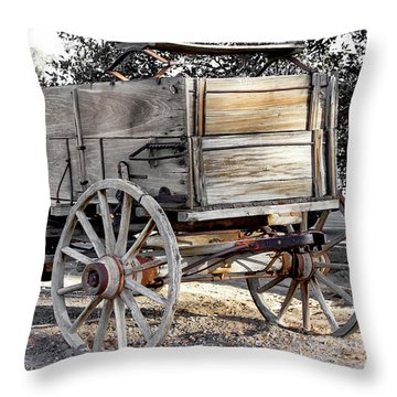 California Farm Wagon Throw Pillow