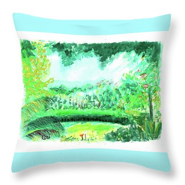 California Garden Throw Pillow