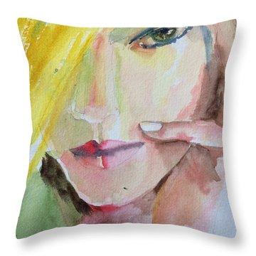 California Girl Throw Pillow by Vicki Ross