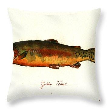 California Golden Trout Fish Throw Pillow