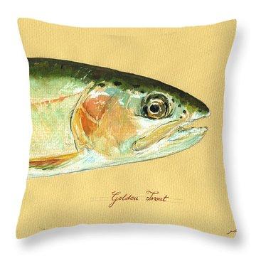 California Golden Trout Throw Pillow