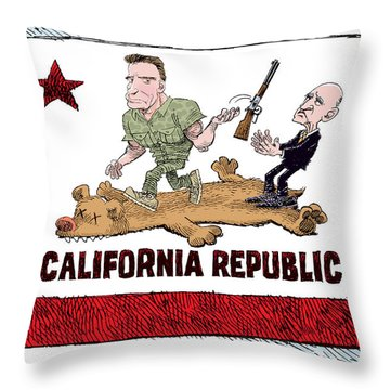 California Governor Handoff Throw Pillow