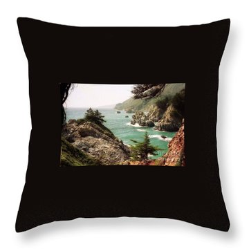 California Highway 1 Coast Throw Pillow by Ted Pollard