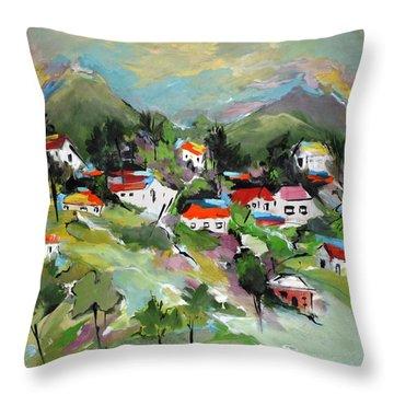 California Hills   Throw Pillow by Mary Spyridon Thompson