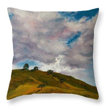 California Hills Throw Pillow by Rick Nederlof