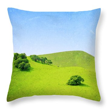 Throw Pillow featuring the photograph California Hillside by Melanie Alexandra Price