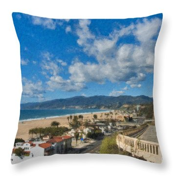 California Incline Palisades Park Ca Throw Pillow by David Zanzinger