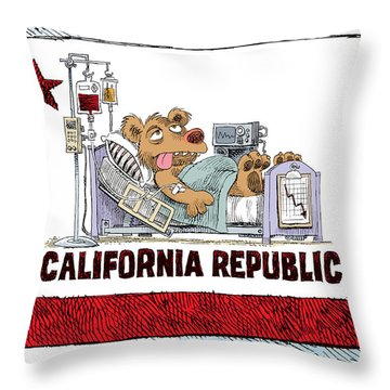 California Is Sick Throw Pillow