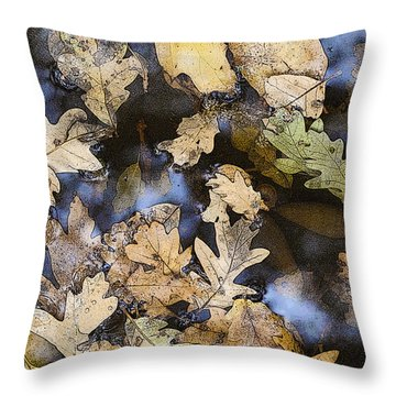 California Oak Leaves  Throw Pillow