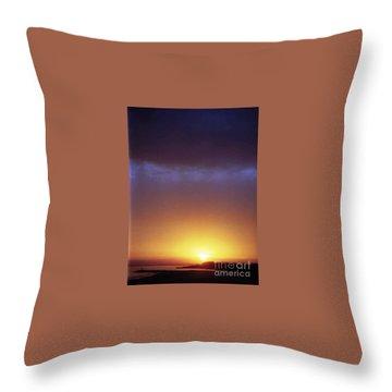California Ocean Sunset Throw Pillow