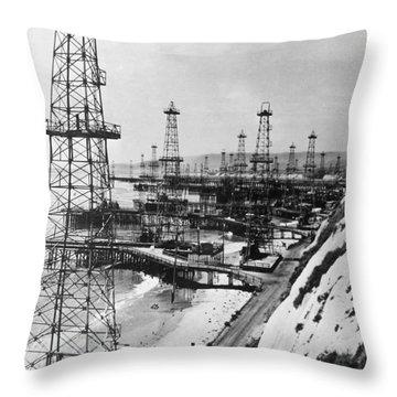 California: Oil, C1944 Throw Pillow