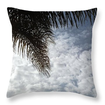 California Palm Tree Half View Throw Pillow