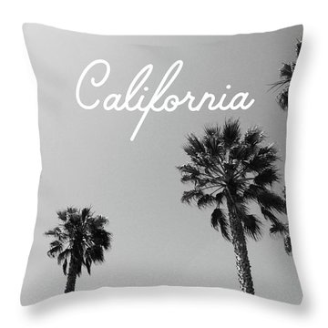 California Palm Trees By Linda Woods Throw Pillow