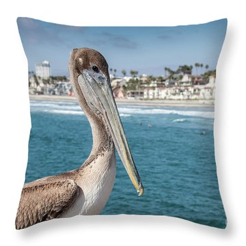 California Pelican Throw Pillow