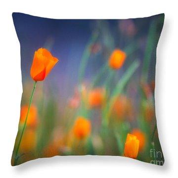 California Poppies 2 Throw Pillow