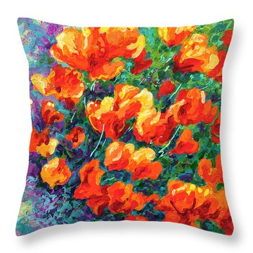 California Poppies Throw Pillow