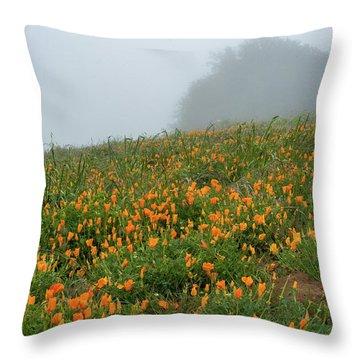 California Poppies On Volcan Mountain Throw Pillow