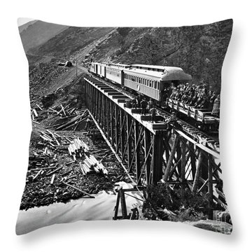 California: Railroad, 1869 Throw Pillow by Granger