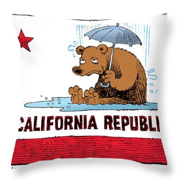 California Rain Throw Pillow