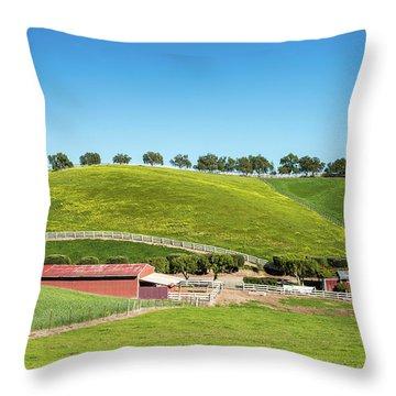 California Ranch Throw Pillow