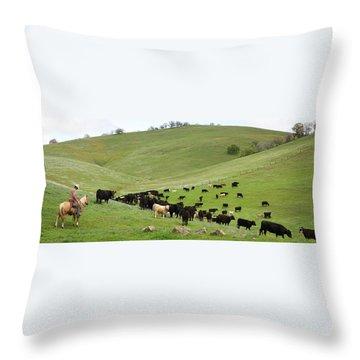 California Ranching Throw Pillow