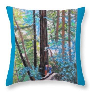 California Redwoods Near San Jose Throw Pillow