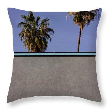 California Rooftop Throw Pillow