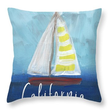 California Sailing- Art By Linda Woods Throw Pillow