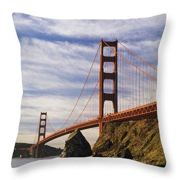 California, San Francisco Throw Pillow by Larry Dale Gordon - Printscapes