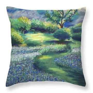 California Spring Throw Pillow by Karin  Leonard