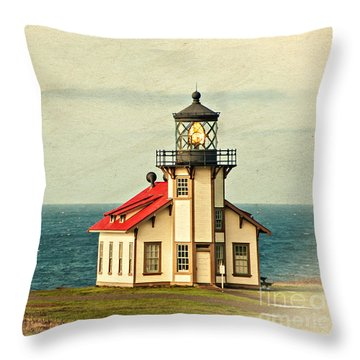 California - State Historic Park Point Cabrillo Lighthouse Throw Pillow