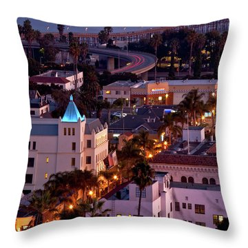 California Street At Ventura California Throw Pillow