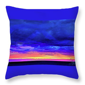 Throw Pillow featuring the painting California Sunrise by Joan Reese