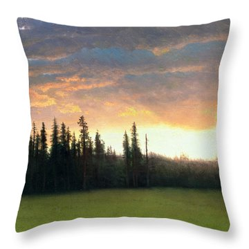 California Sunset Throw Pillow by Albert Bierstadt