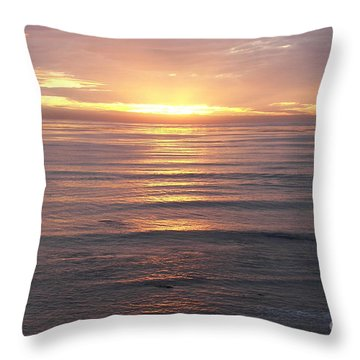 Throw Pillow featuring the photograph California Sunset by Carol  Bradley