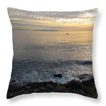 Throw Pillow featuring the photograph California Sunset by Joan  Minchak
