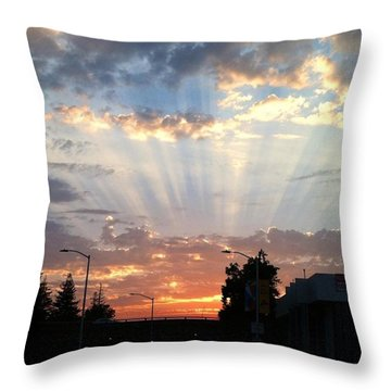 #california #sunset #nature Throw Pillow
