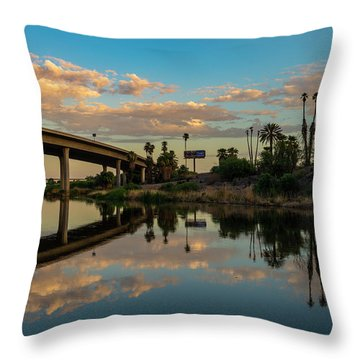 California To Arizona Throw Pillow
