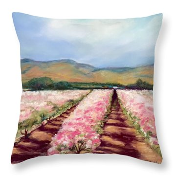 California Valley Blossoms Throw Pillow