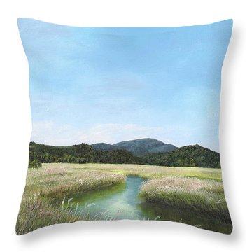 California Wetlands Throw Pillow