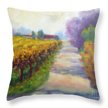 California Wine Country Throw Pillow