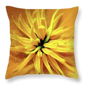 Californian Poppy Macro Throw Pillow