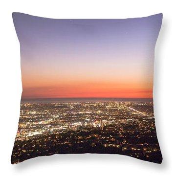 Californian Sunset Throw Pillow