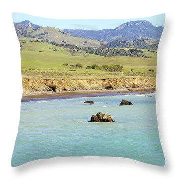 Throw Pillow featuring the photograph California's Central Coast by Art Block Collections
