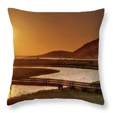 Throw Pillow featuring the photograph California's Wild West by Peter Thoeny