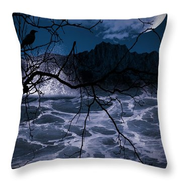 Caliginosity Throw Pillow by Lourry Legarde