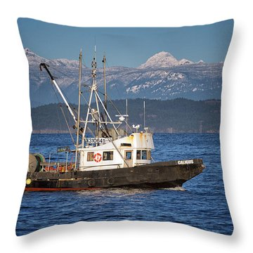 Throw Pillow featuring the photograph Caligus by Randy Hall