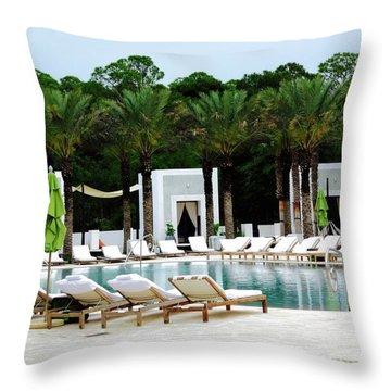 Caliza Pool In Alys Beach Throw Pillow