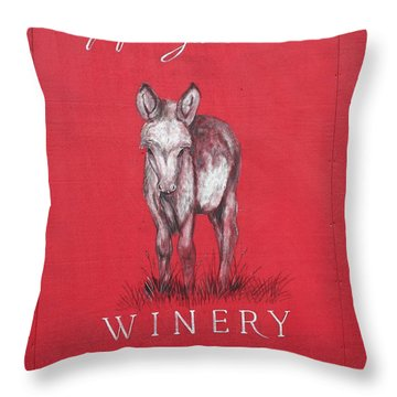 Throw Pillow featuring the photograph Call Me Applegate Red by Marie Neder