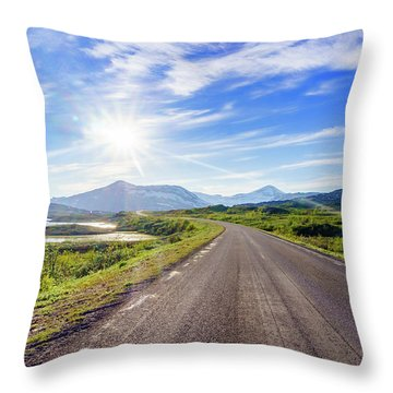 Throw Pillow featuring the photograph Call Of The Road by Dmytro Korol